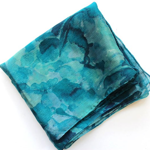 blue chiffon scarf for summer
