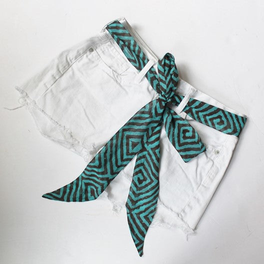 turquoise skinny scarf