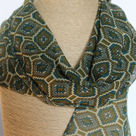 olive green gray scarf