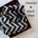 black and white chevron scarf