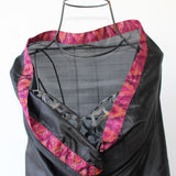 black silk evening wrap