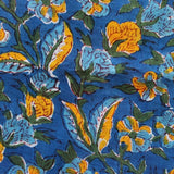 blue and yellow cotton napkins