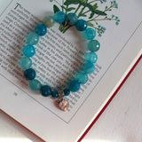 blue bracelet love mom charm