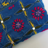 blue scarves with embroidery