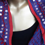 blue sequined scarf