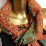 brown and rustic scarves