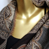 brown winter scarves