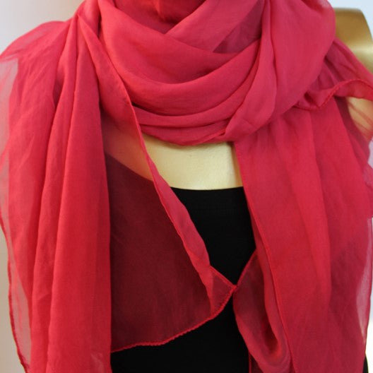 chiffon scarf unique colorful scarves