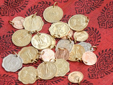 old indian coin pendants