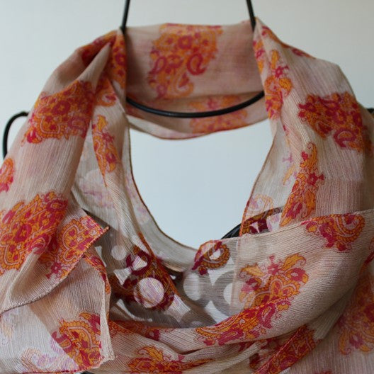 colorful chiffon scarves