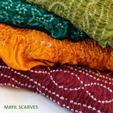 colorful tie dye scarves