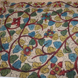Kalamkari scarf - hand painted vines