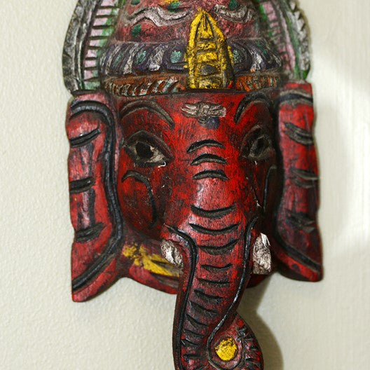 ganesha handcrafted wooden scultpure
