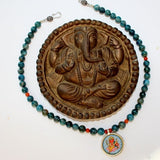 ganesha pendant gemstone necklace