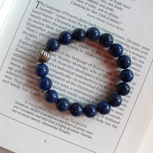 gemstone stretch bracelet lapis blue