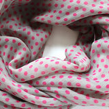 gray and pink scarf polka dotted scarf