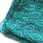 blue and green chiffon scarf