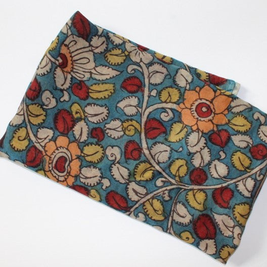 Kalamkari small scarf - blue