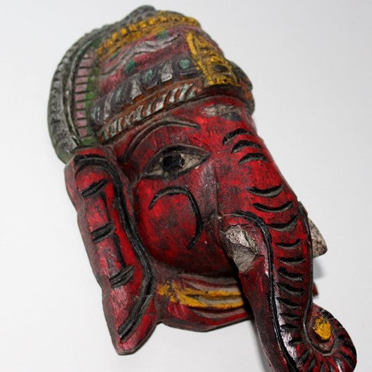 hand painted wooden Ganesha home decor