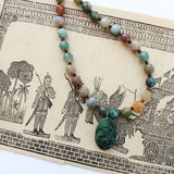 jasper gemstone necklace