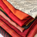 mayil's colorful silk scarves