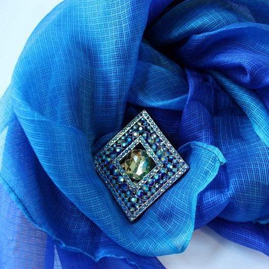 mayil silk scarf and Sinchi scarf clip