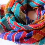 multi color chiffon scarf