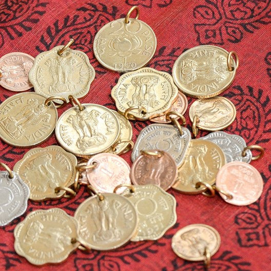 old indian paise charms