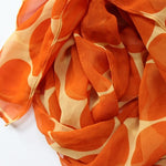 orange dot scarf