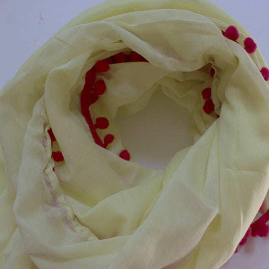 pale yellow cotton scarf