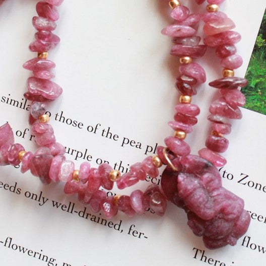 tourmaline chip necklace jade ganesha