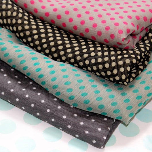 polka dotted scarves by mayil
