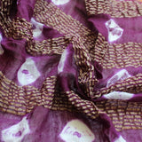 purple scarves
