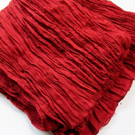 red cotton scarf