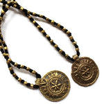 round sun dhokra necklace
