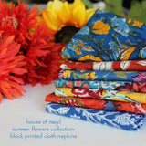 summer flowers collection house of mayil cloth dinner napkins