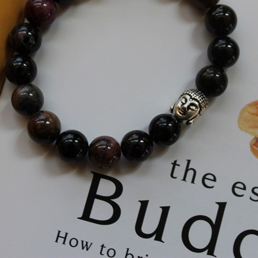 tourmaline gemstone bracelet with Buddha