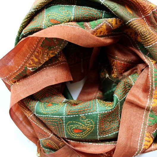 tussar silk scarves