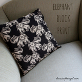 elephant print throw pillow cover