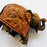 wooden elephant home decor