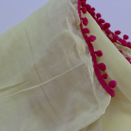 yellow cotton scarves by Mayil