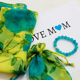 yellow scarf and bracelet gift set