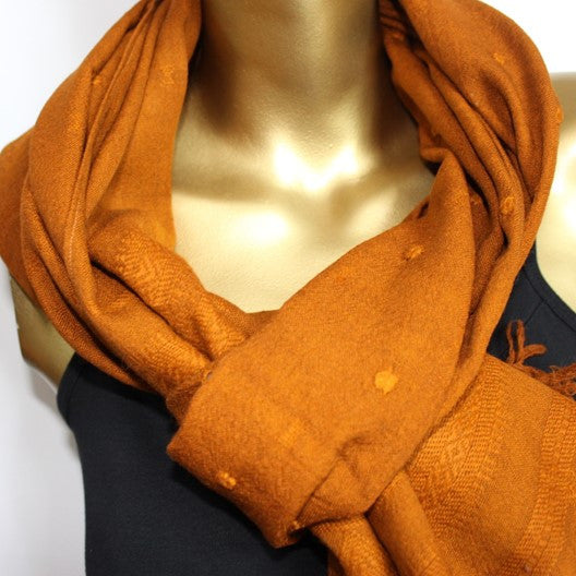 yellow wool scarf