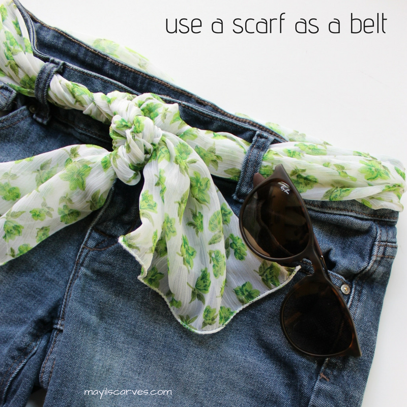 This is our spring green scarf.  Wear it as a belt !