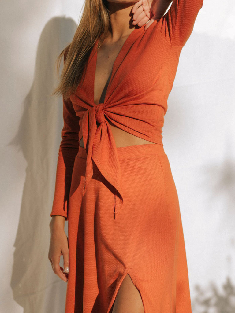 ORANGE SUNDALAND BLOUSE