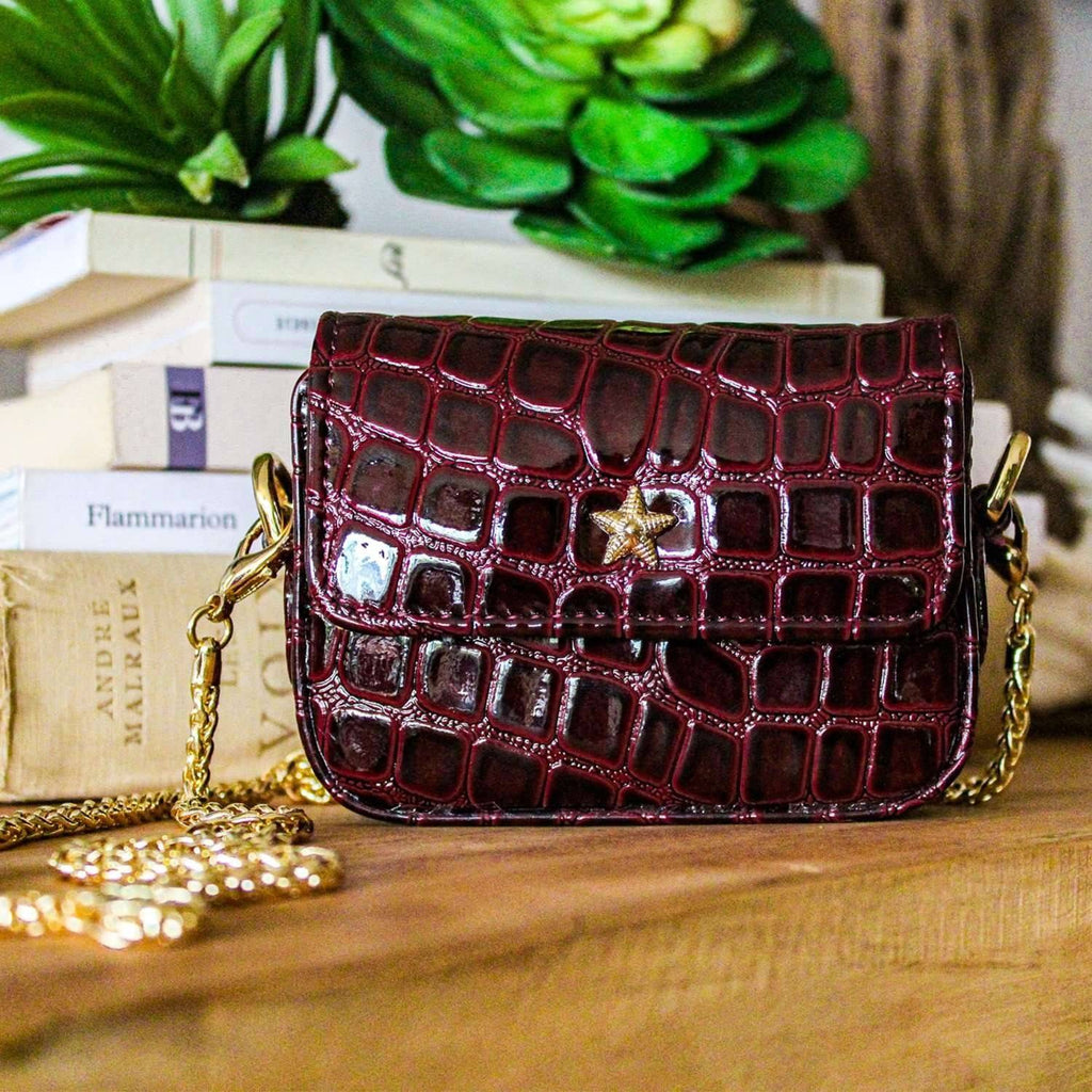 MINI HARLEM -Burgundy Vegan Leather - Tina