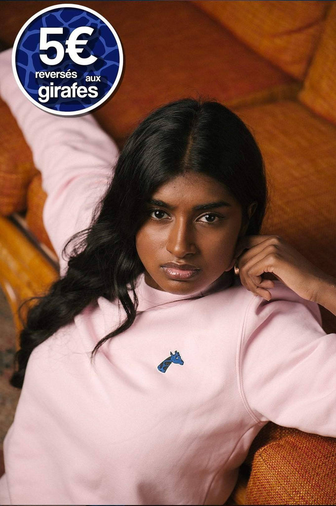 Sweat-shirt rose unisexe