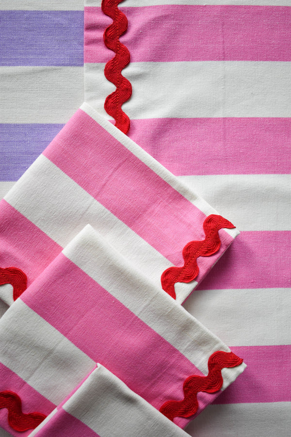 Pink Striped Napkins - Appreciation Project - Dried Flowers UK