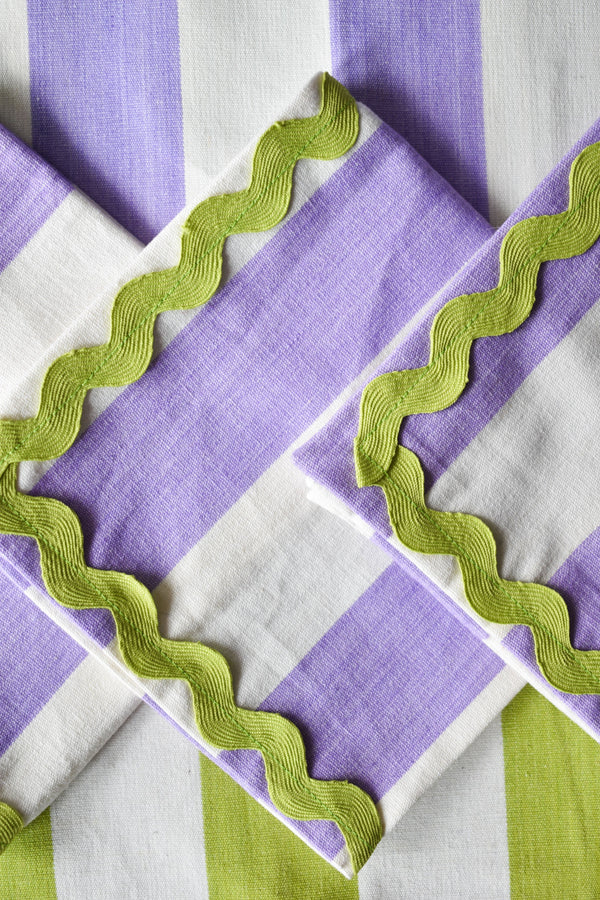 Purple Striped Napkins - Appreciation Project - Dried Flowers UK