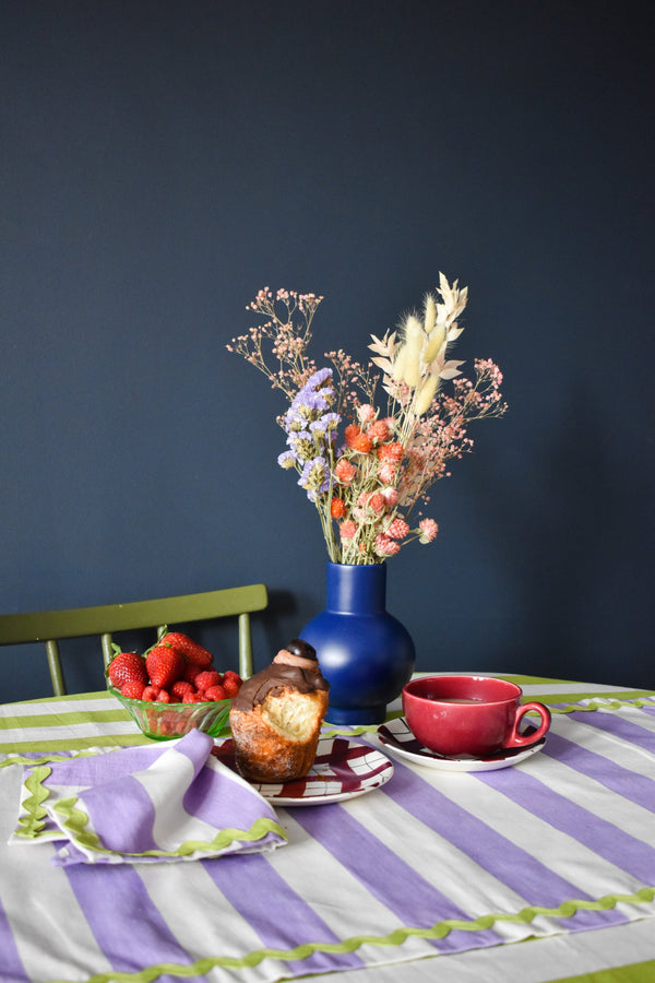 Purple Striped Table Runner - Appreciation Project - Dried Flowers UK